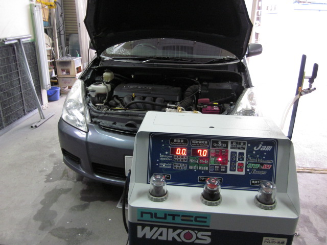 トヨタ ZNE10G ウィッシュ ATF圧送式交換 10万キロ