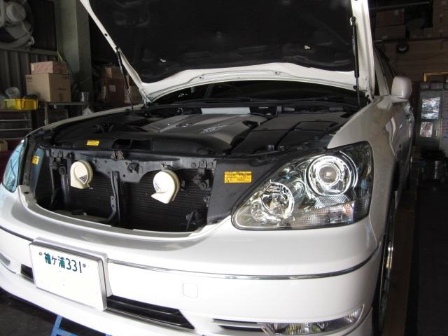 トヨタ UCF31 セルシオ ATF圧送式交換 10.5万キロ WAKO'S ATF S-S